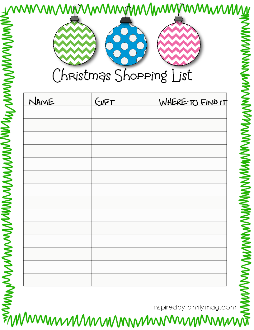 Free Printable Christmas Lists template letter of resignation from – Christmas List Template for Kids