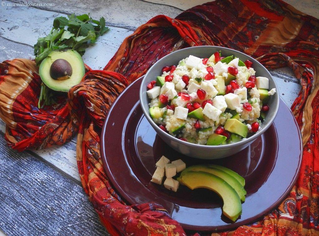 orientalischer couscoussalat mit feta │ oriental couscous salad with feta cheese │ nurmalkosten.com