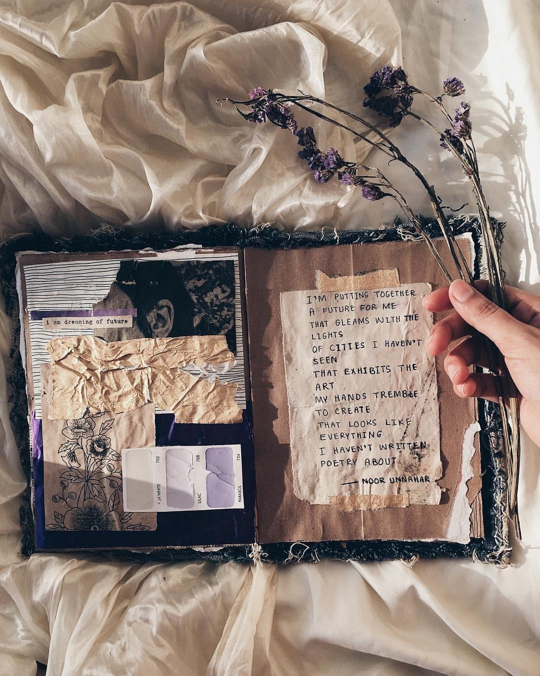 future // art journal + poetry by noor unnahar ...