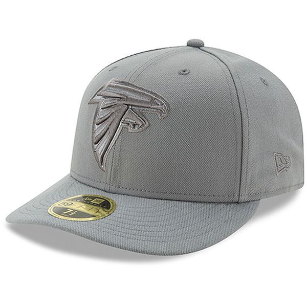 ab613ee5ad5 New Era Atlanta Falcons Storm Gray League Basic Low Profile 59FIFTY  Structured Hat