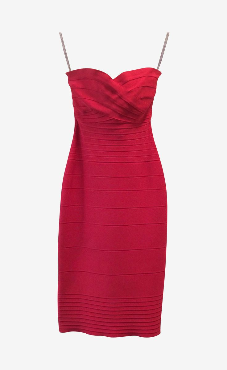 f7a628e699d9 Herve Leger Coral Pink Strapless Bandage Dress | My style - haves ...