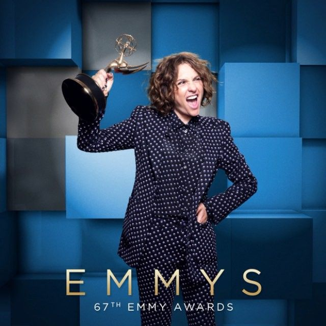 Directing, Comedy Series winner @JillSoloway (@transparentamazon) with glimmering gold in the #Emmys photo lounge! Sponsored by @ChaseSapphire Preferred  Watch NOW on @foxtv, and get the all-access view on emmys.com/bsl!  #cinemagraph by @FlixelPhotos