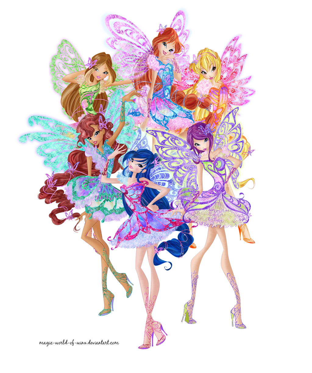 winx club butterflix png by magic world of winx