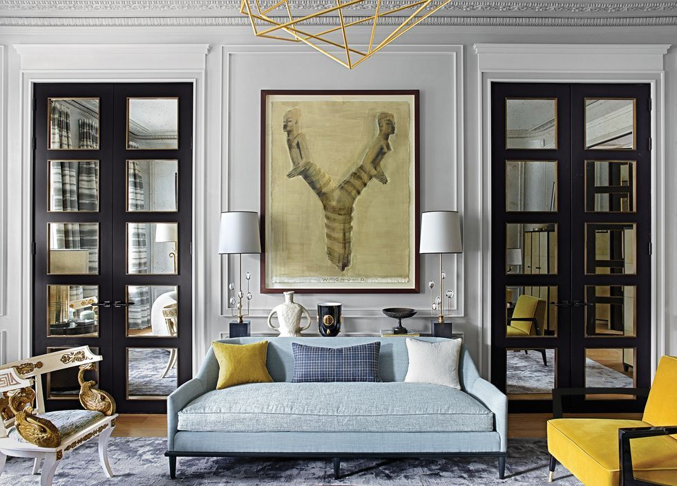 Tour A Luxurious Turnkey Townhouse In London By A Top Designer In 2021 Interior Design Elle Decor Living Room Elle Decor Elle decor living room images