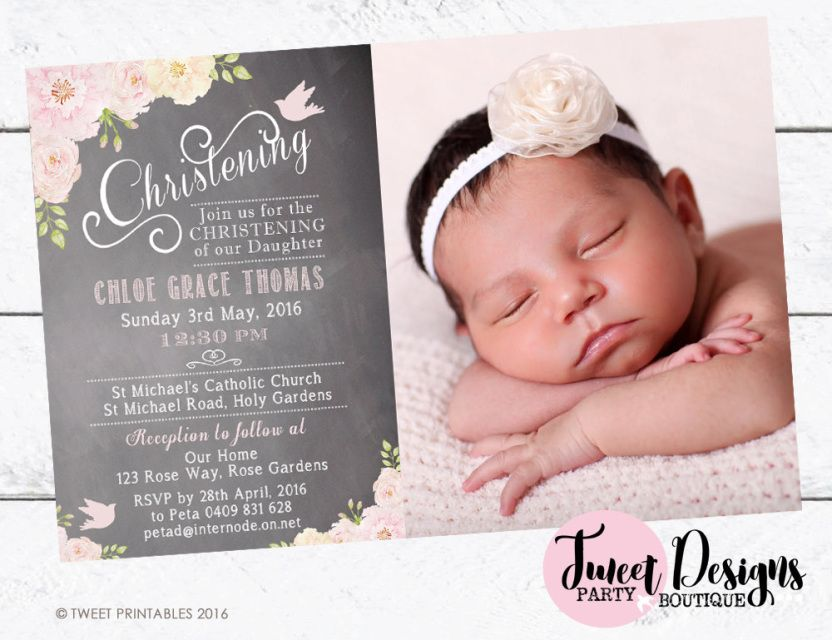 Christening Invitations, Baptism Invitation, Print yourself ...