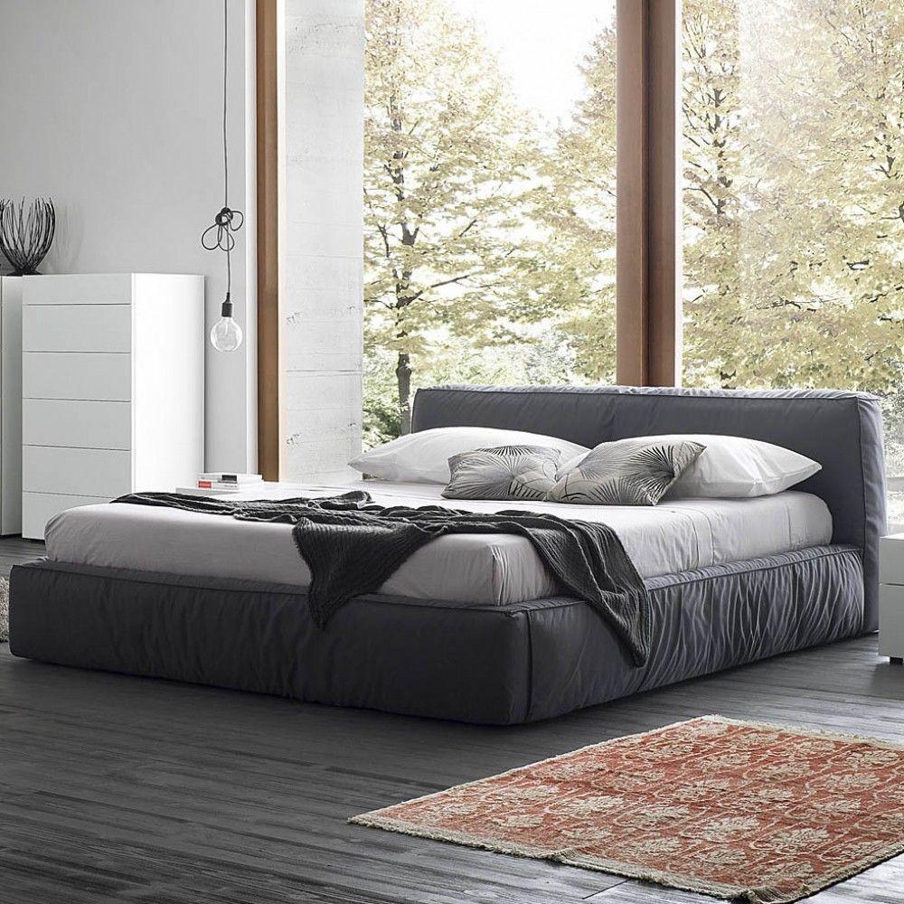 Image 1 Modern bed, Asian bed frames, Grey platform bed