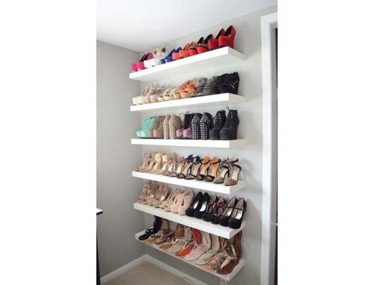 Ripiani In Legno Ikea : Armadio scarpe scarpiera ripiani legno tutto a vista casa