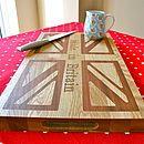 union jack chopping board