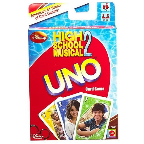 High School Musical 2 Uno Card Game Pinterest High School