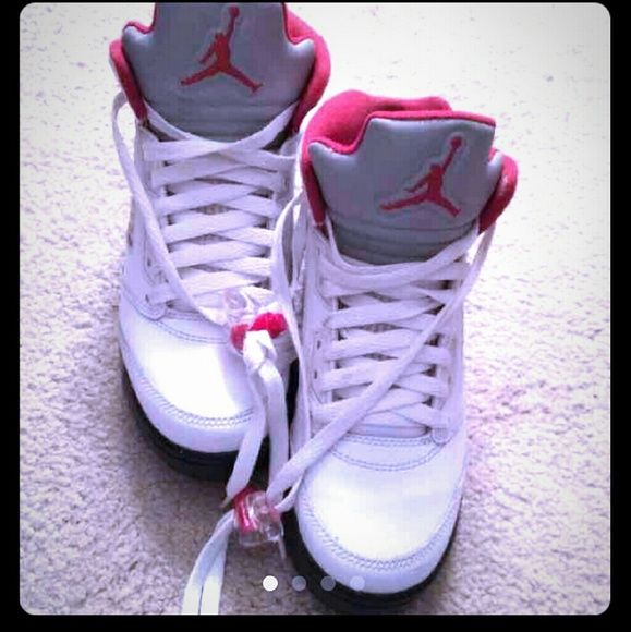 Jordan Fire Red 5s Nike Air Jordan Fire Red 5s. In great condition. Only worn a couple of times. Jordan Shoes Sneakers