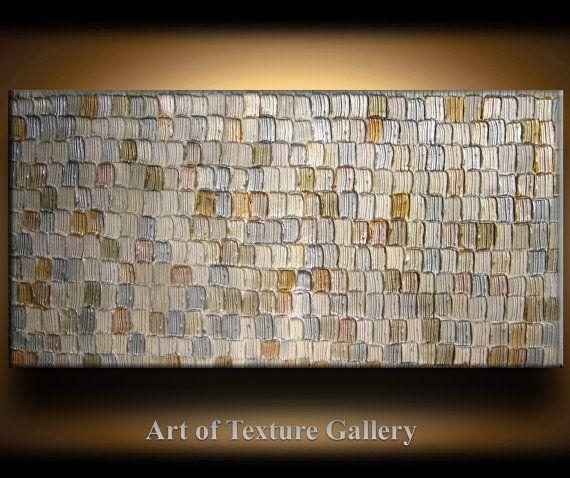 Abstract Textured Painting 48 X 24 Custom Original Heavy