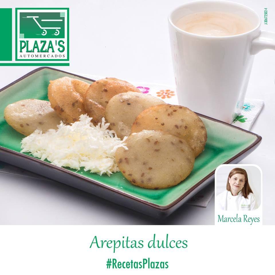 Arepitas Dulces Chf. marcela Reyes Ingred: 1 taza de harina de maíz precocida 1  y 1/2 tazas de agua endulzada con papelón al gusto... Ver más   https://www.facebook.com/elplazas/photos/pb.145157952222486.-2207520000.1464458635./1068163519921920/?type=3&theater