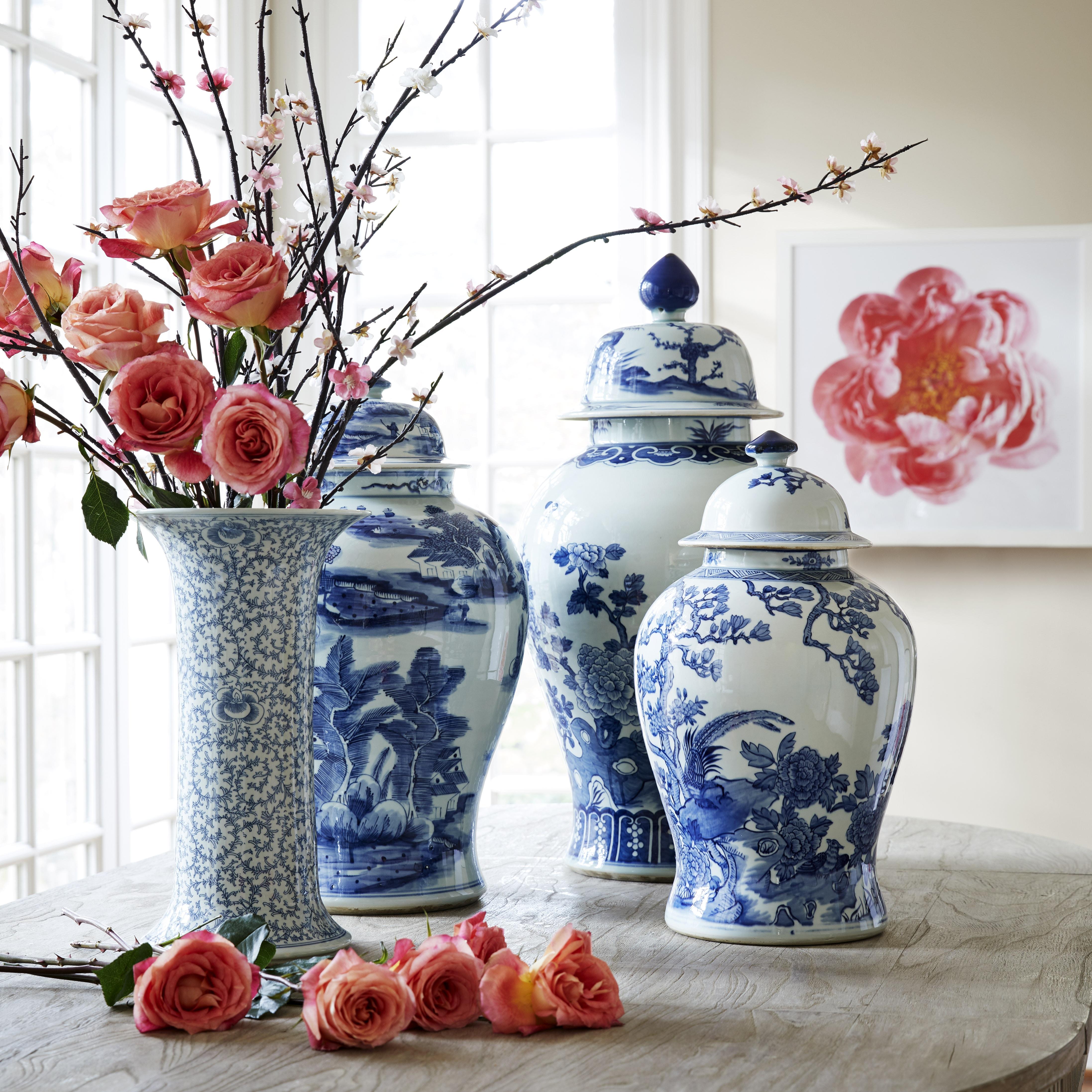 Slender Flared Chinese Vase Chinese Blossom Diy Vase Chinese Vase