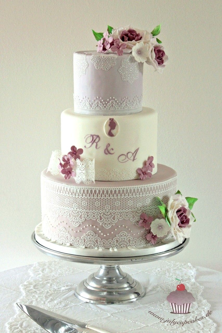 Wedding Cake With Pavoni Magic Lace Hochzeitstorte Mit Magic Decor