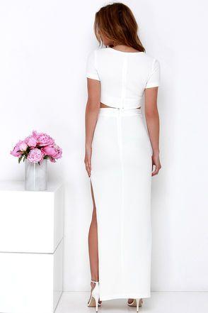 1d0b064a838 Chic Two-Piece Dress - Ivory Dress - Maxi Dress -  123.00