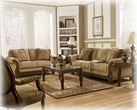 Traditional style with wood accents at a very affordable price.