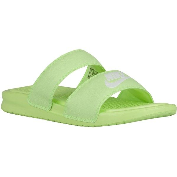 e6d77794f Nike Benassi Duo Ultra Slide - Women s - Casual - Shoes - Ghost... ( 40) ❤  liked on Polyvore featuring shoes