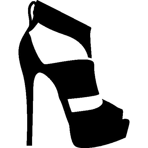 Logo Lettering Platform Sandals