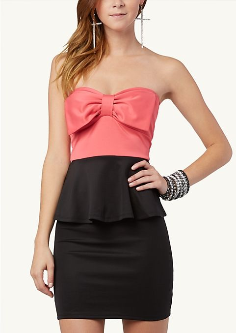 Bow Front Peplum Dress Dressy Rue21 Want Peplum