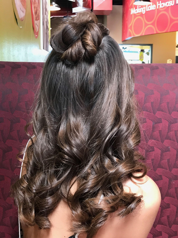 Half up Half down prom hair | Prom hair, Prom hair medium ...