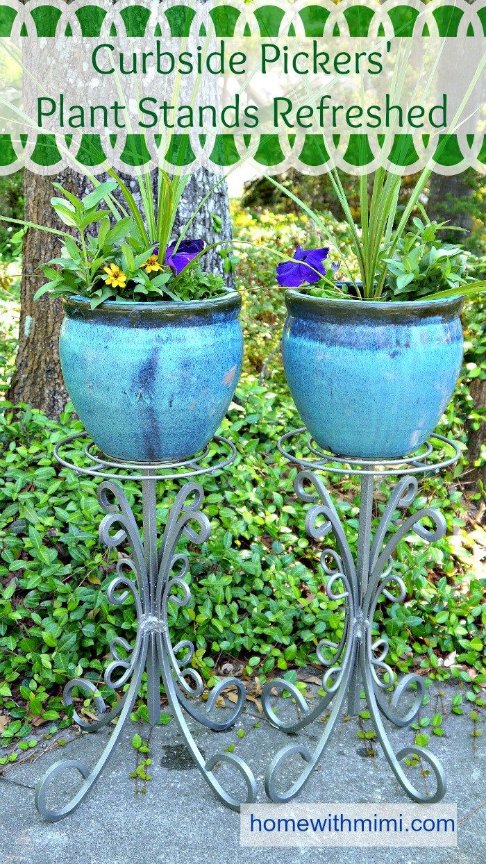 Garden decor crafts  Curbside Pickersu Plant Stands Refreshed  Blogging Group and Board