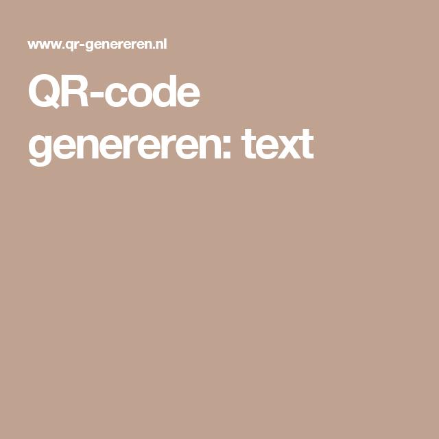 QR-code genereren: text
