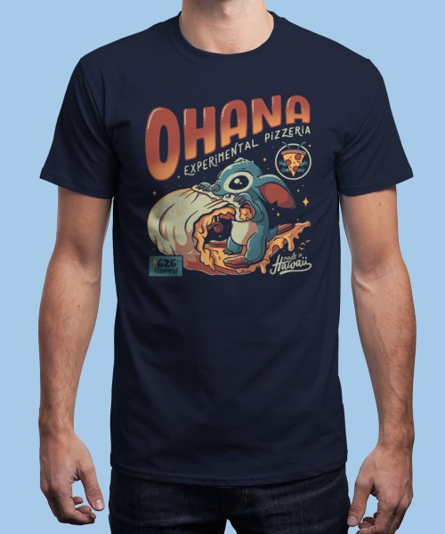 """""""Ohana Pizzeria"""" is today's £9/€11/$12 tee for 24 hours only on Pin this for… 
