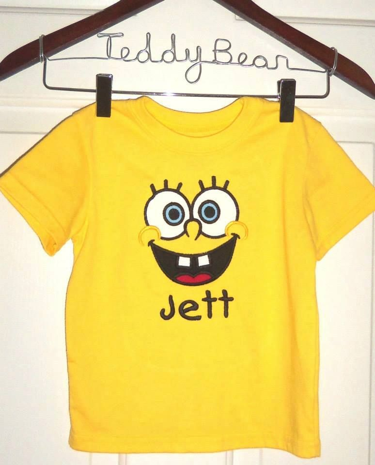 Spongebob Personalized Shirts For Boys Or Girls Men Party 3rd Birthday Parties Boy