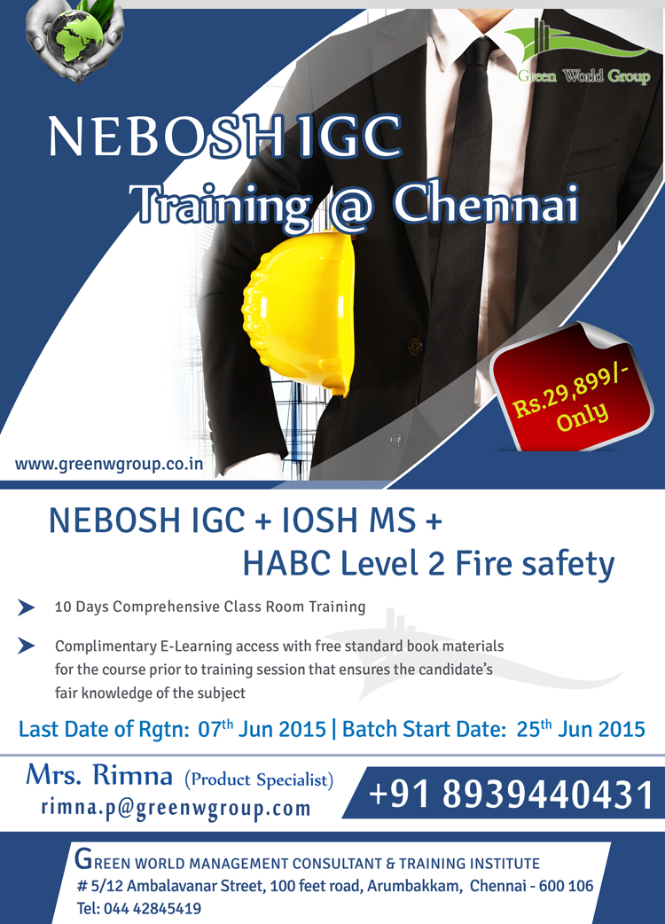 Gwg Announce Terrible Offer For Nebosh Igc Course In Chennai At