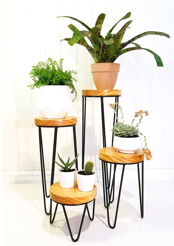 Haripin Leg Plant Stand Metal Plant Stand Plant Stand Plant Stand Table Metal Plant Stand Plant Decor Indoor