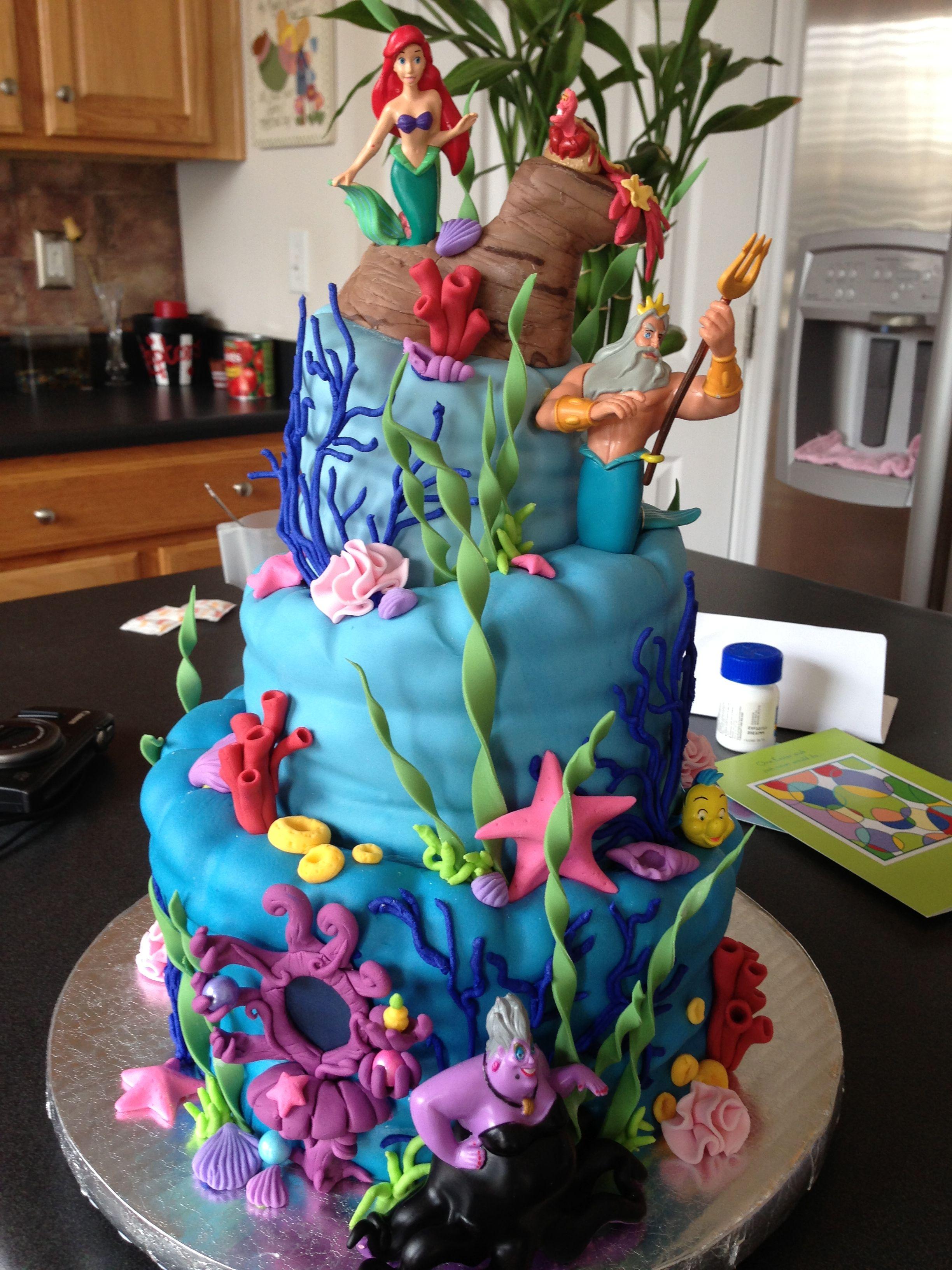 Little Mermaid Cake Cakes Pinterest Little Mermaid Cakes Cake