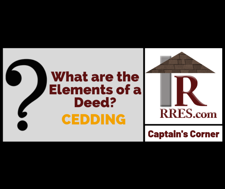 What are the Elements of a Deed? Real estate school