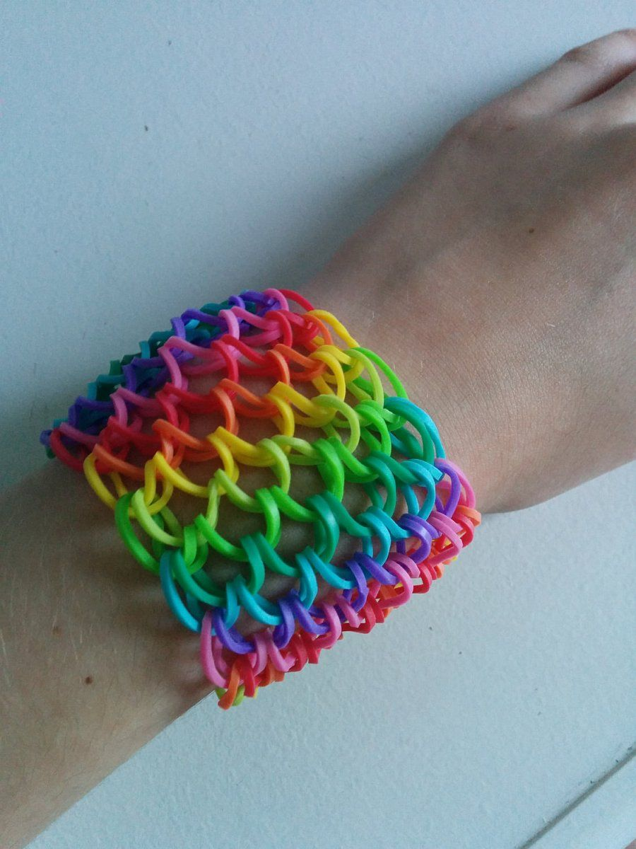 Colorful Dragon Scale Cuff Loom Bracelet