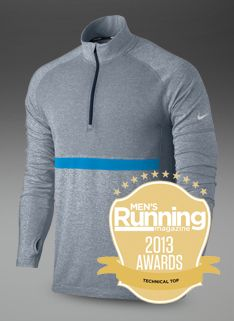 daa05a721ef3 Nike Dri-Fit Knit Long Sleeve 1 2 Zip Top - Mens Running Clothing - Armory  Navy-Heather-Reflective Silver