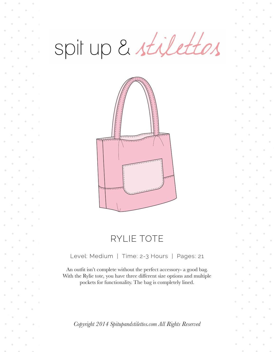 Rylie Tote Bag Sewing Pattern Spit Up & Stilettos #ClippedOnIssuu ...