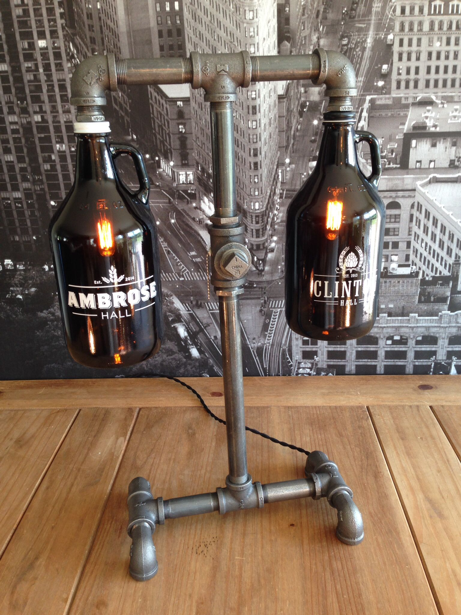 Custom Beer Growler Lamp By The Vintage Bulb Llc With Images