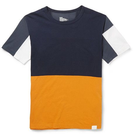 White Mountaineering Panelled Cotton T Shirt Mr Porter Mens Printed T Shirts Tshirt Design Men T Shirt