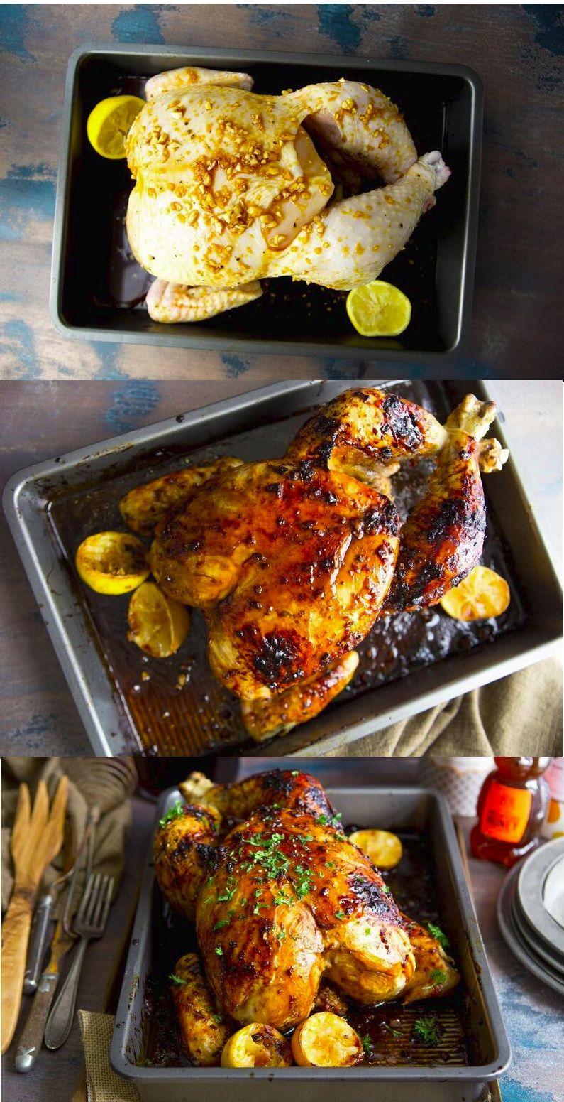 Roasted Golden Hen   Recipe   Traditional christmas dinner ...