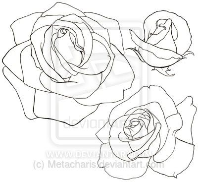 Rose Tattoo by Metacha...