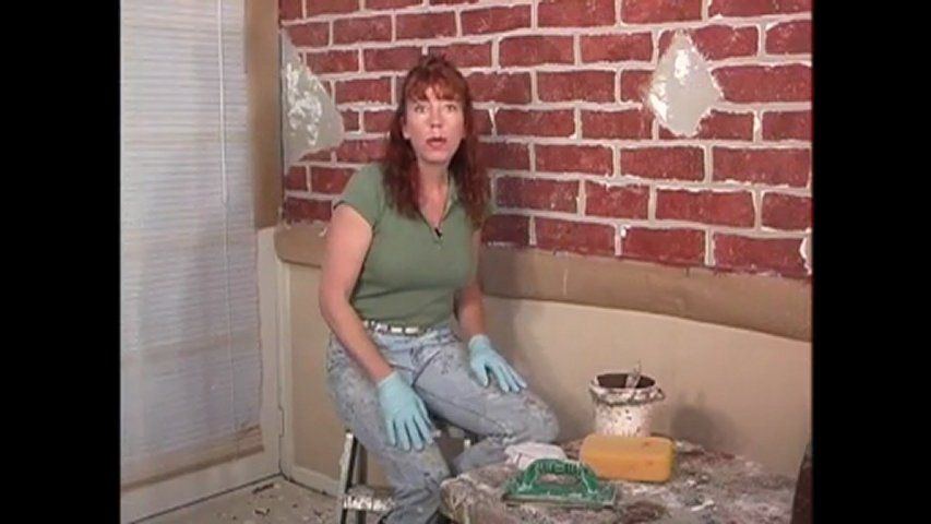 Diy how to paint a distressed red brick faux finish pattern | PopScreen