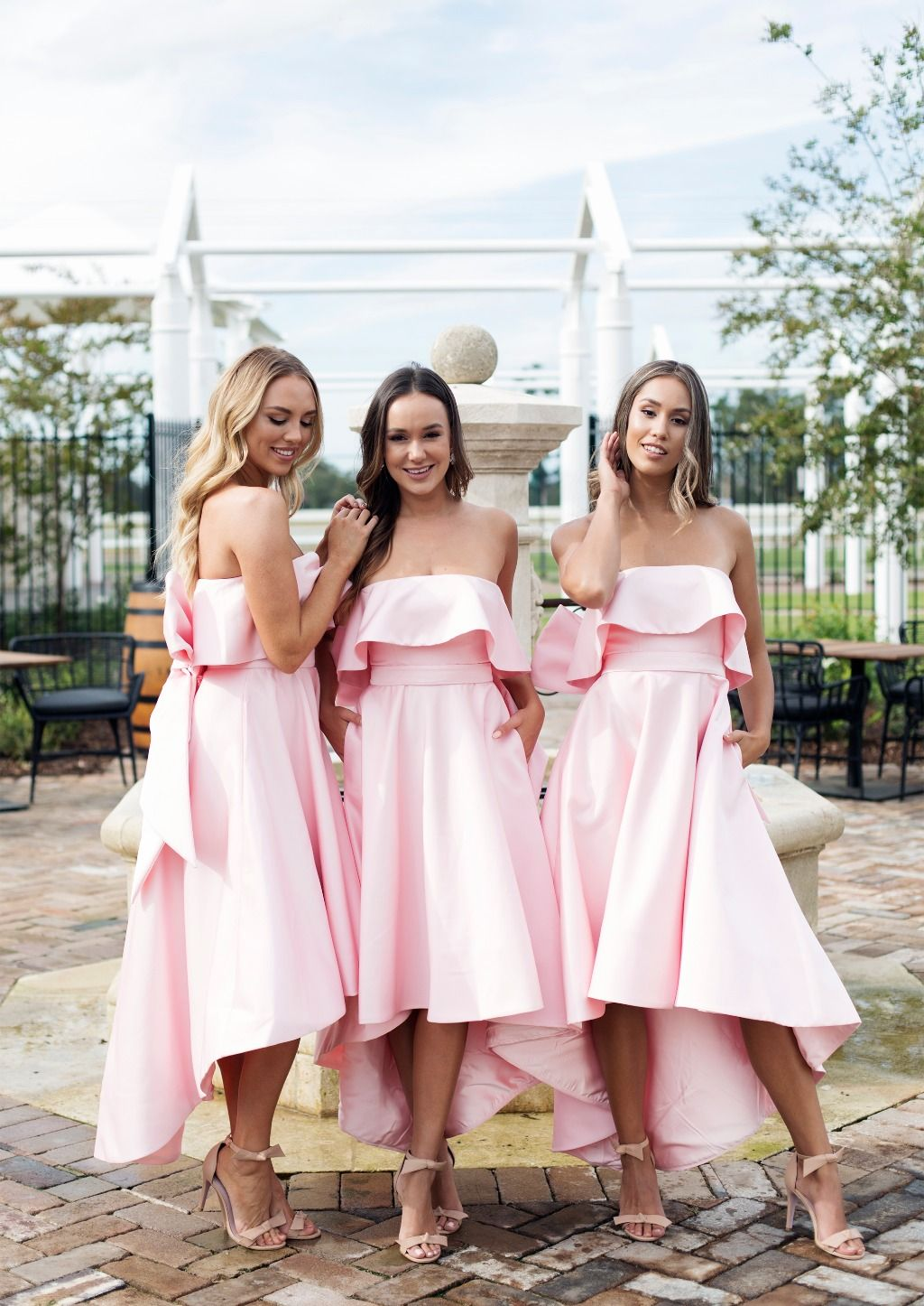 Coco Dress Pink Bridesmaid Dresses Short Bridesmaid Dresses Strapless High Low Bridesmaid Dresses [ 1446 x 1024 Pixel ]