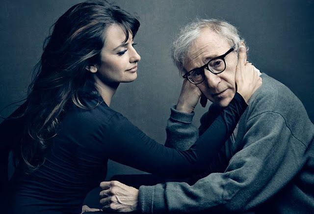 Penelope Cruz and Woody Allen photographed by Annie Leibovitz