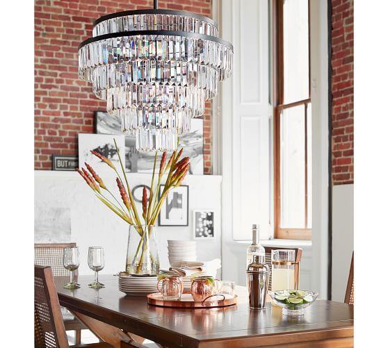 Gemma crystal tiered chandelier