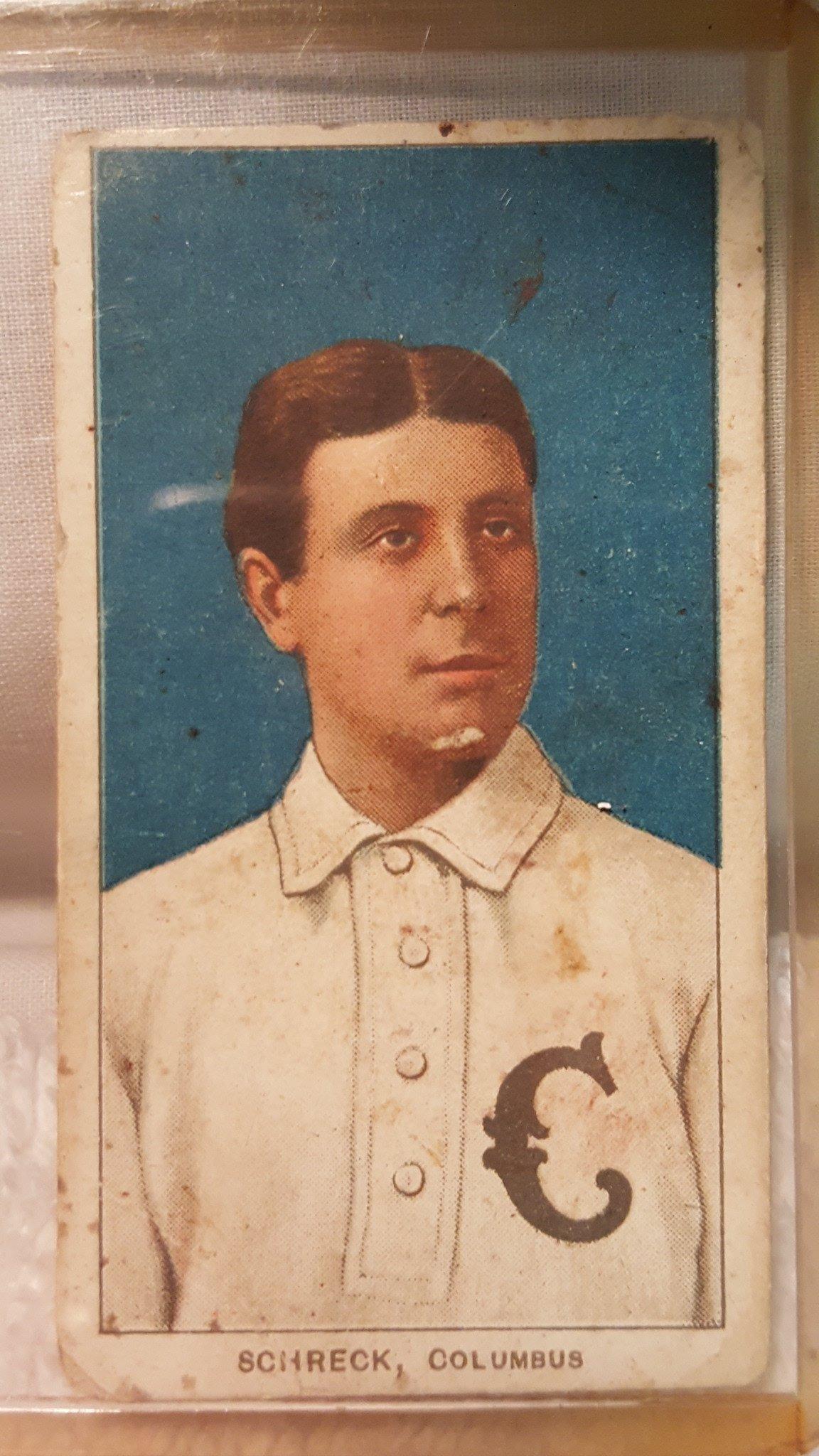 Piedmont 350 T206 Baseball Card Ossie Schreck C 1910 With