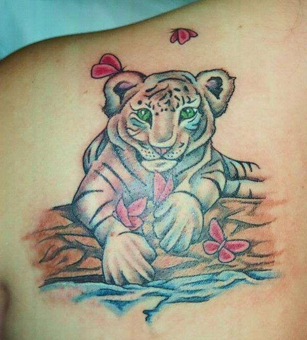 Baby Tiger Tattoo Tiger Tattoo Animal Tattoo Tattoos