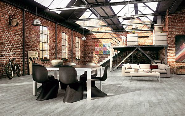 Charming Industrial Dining Room In A Warehouse Apartment Key Traits Of Industrial  Interior Design