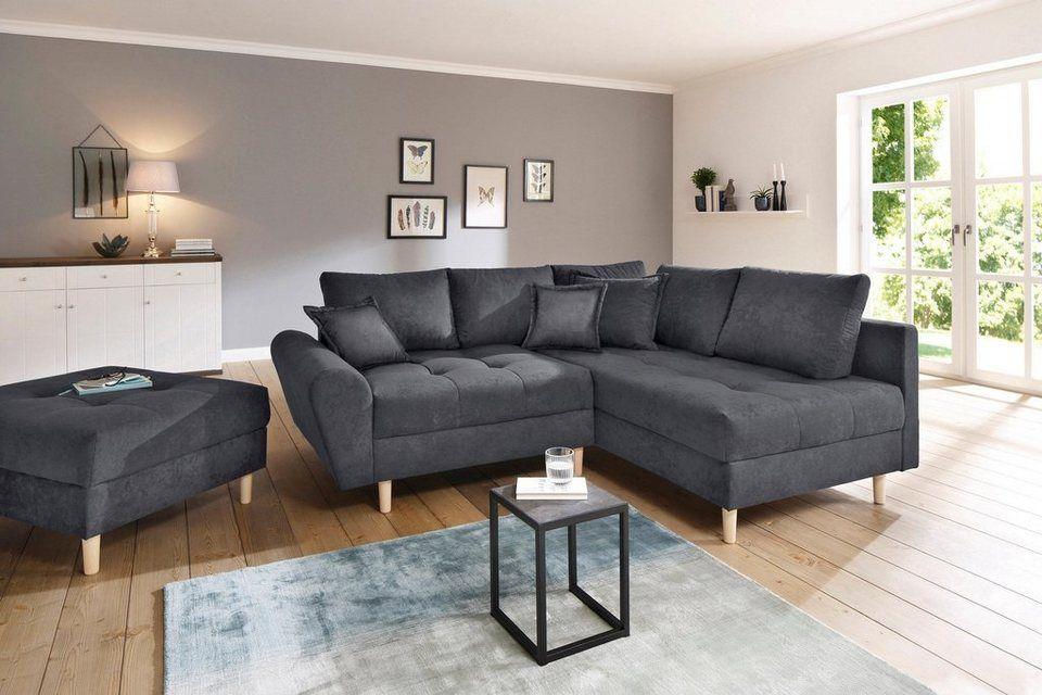 Home Affaire Ecksofa Rice Incl Hocker Mit Federkern Online Kaufen In 2020 Ecksofas Ecksofa Und Haus Deko