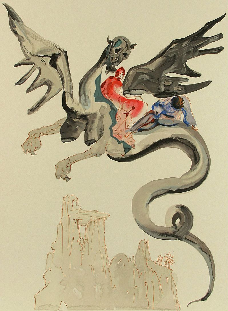 Bezaubernd Dali Werke Beste Wahl Edy: Inferno - Canto Xviii, Salvador Dali,