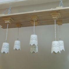 Luminaire suspension bois recyclé