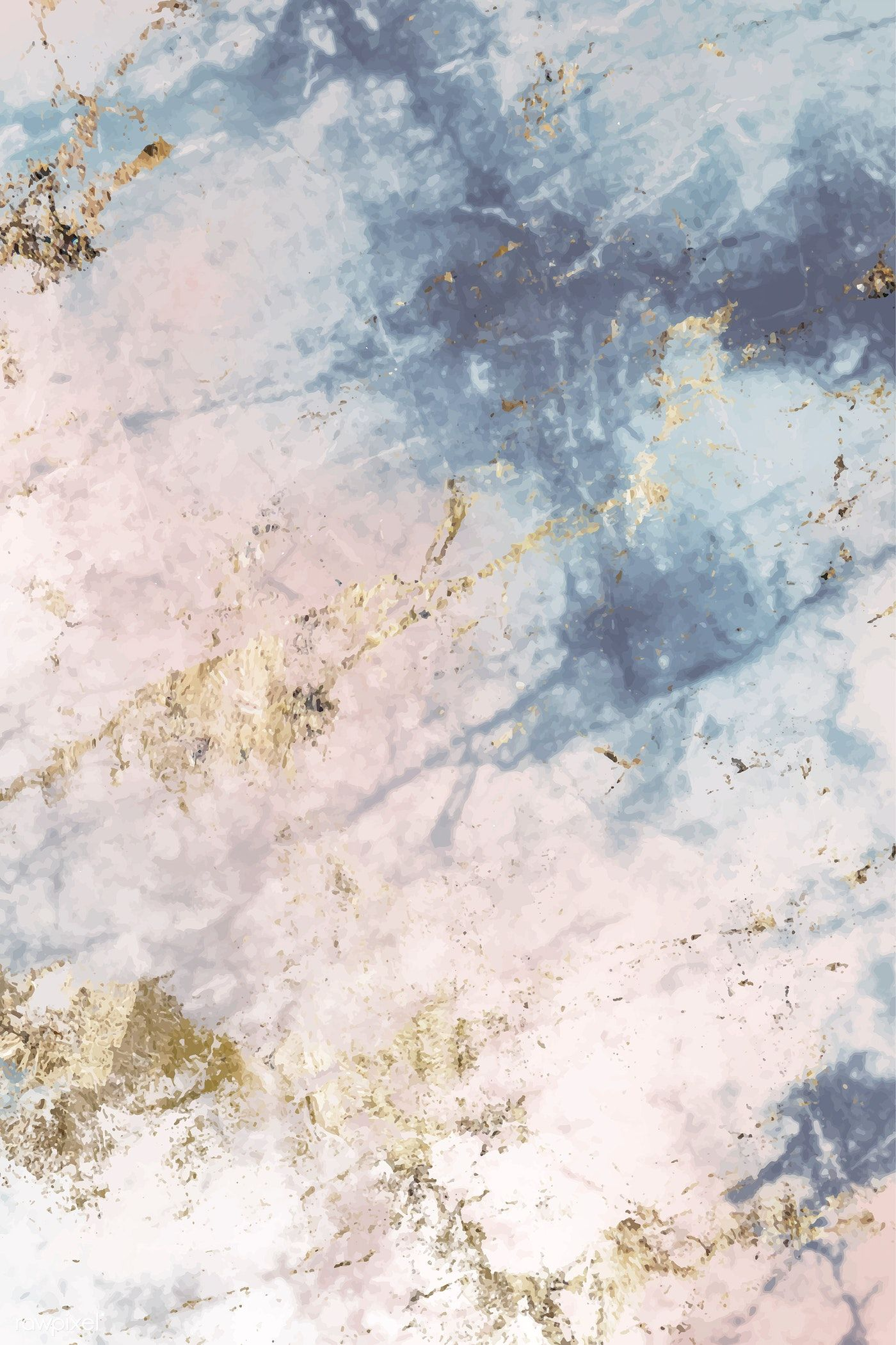 Download free vector of Pink and blue marble textured background vector